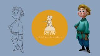 ✅ آموزش نقاشی  دیجیتال کاراکتر کارتونی مناسب انیمیشن و گیم