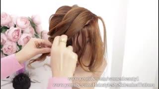 آموزش مدل مو دخترانه مجلسی شیاری- مومیس مشاور و مرجع تخصصی مو
