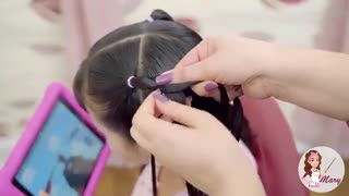 آموزش مدل مو دخترانه بافت بهاری- مومیس مشاور و مرجع تخصصی مو