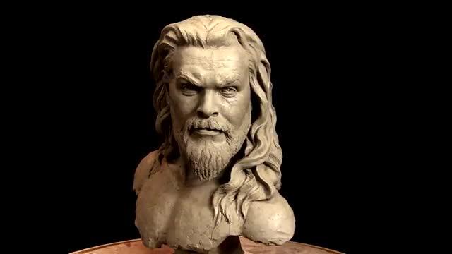 آموزش طراحی و ساخت مجسمه تندیس یک مرد